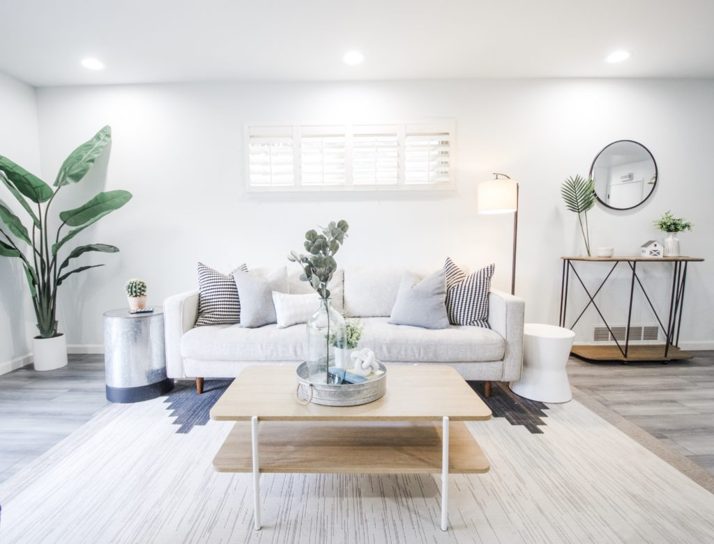 Rocklin home staging with fresh modern style