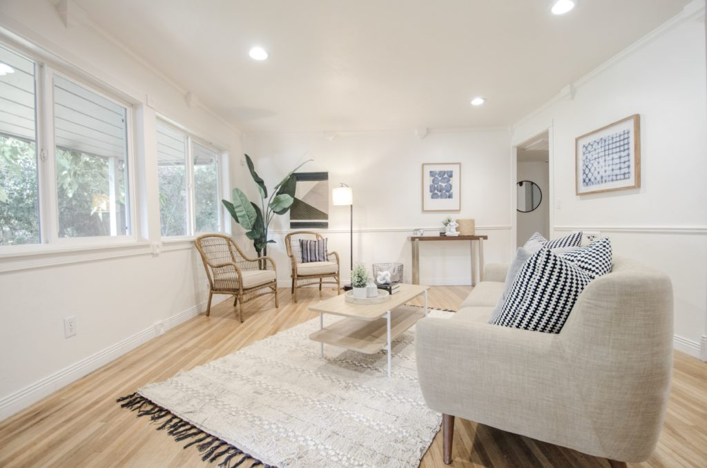bright and airy modern home staging in Roseville, CA