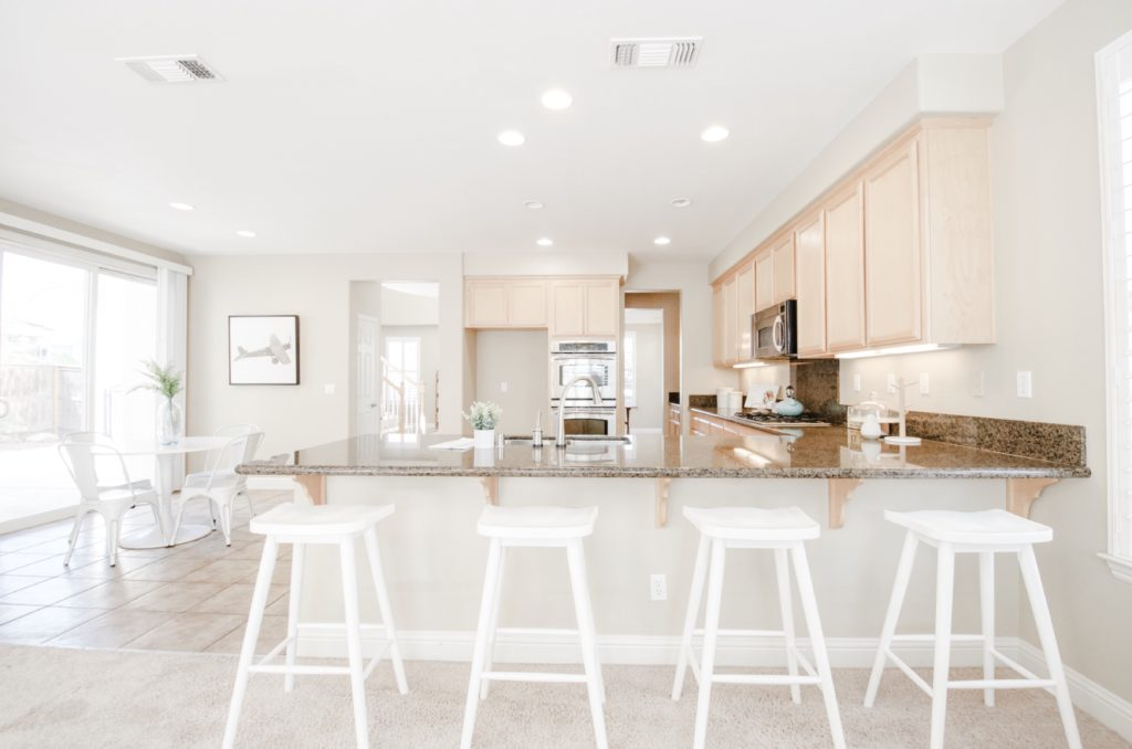 bright and airy white kitchen