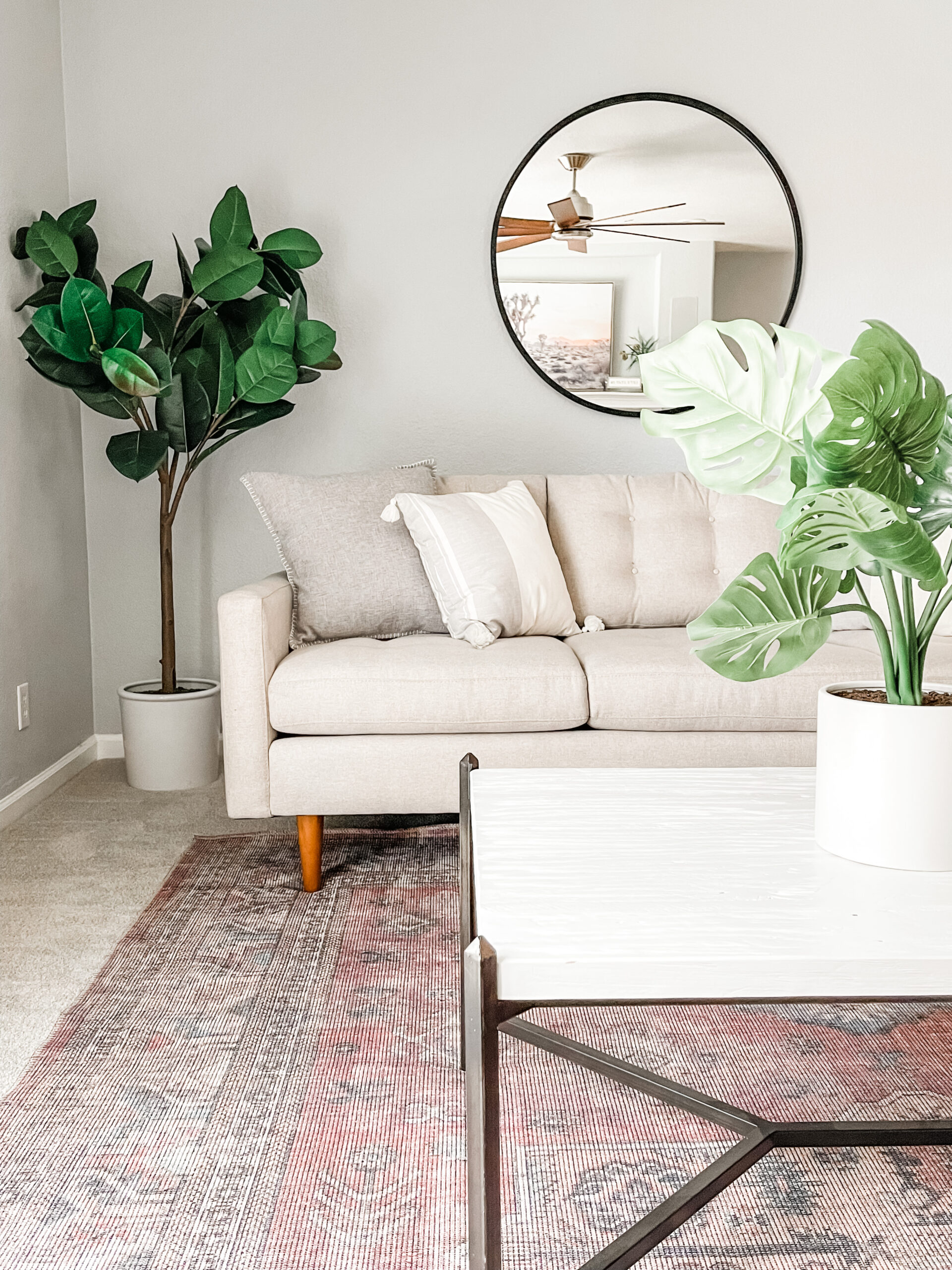Family Room Staging
